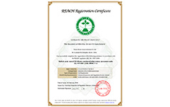 REACH Registration Certificate